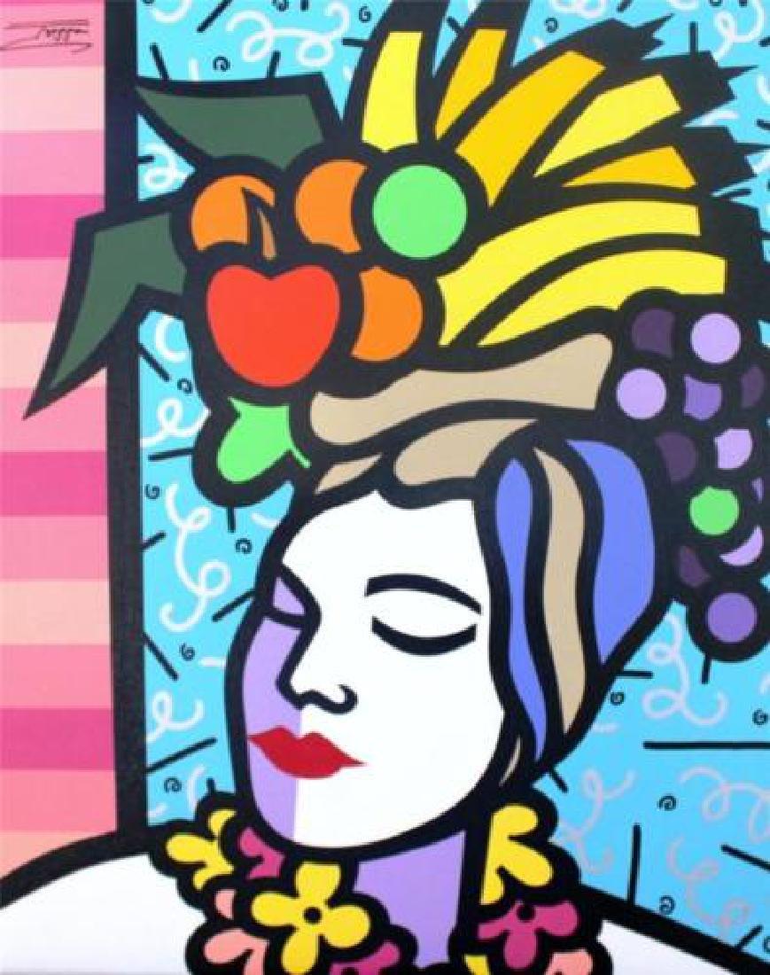 Jozza Carmen Original Signed Acrylic Stretched Canvas