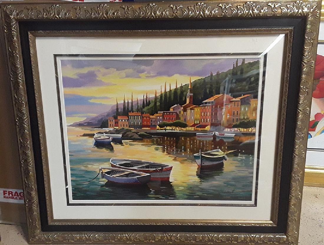 "Anatoly Metlan ""Twilight"" HS/N serigraph framed P.West - 2"