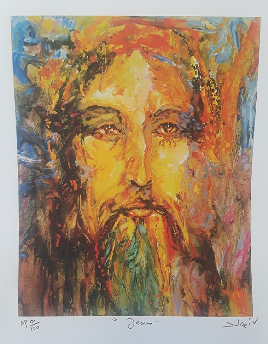 "DUAIV(French) ""Jesus"" HS/N A/P Lithograph"