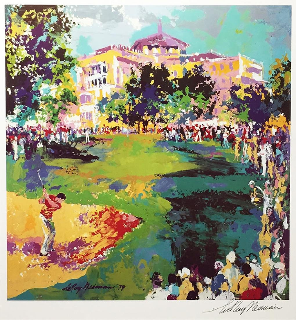 Leroy Neiman Westchester Golf Classic Hand Signed