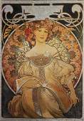 Illustration for the Calendar of 1896 by Alphonse Mucha