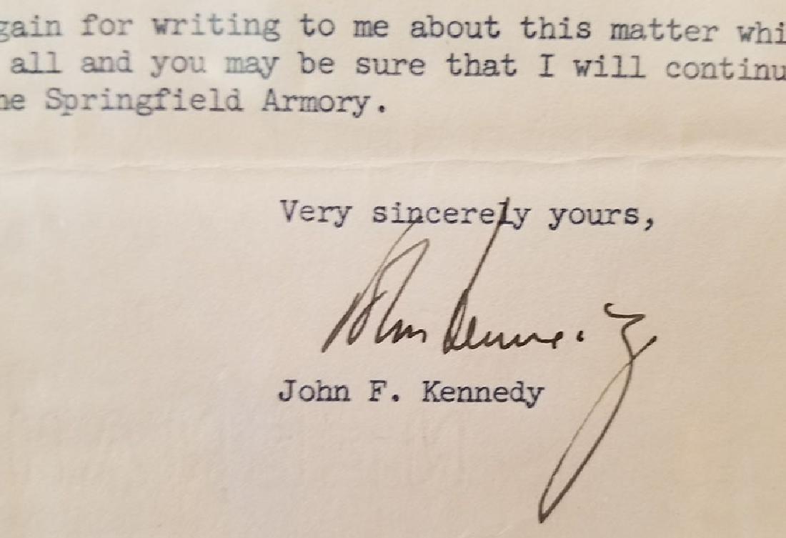 JOHN F KENNEDY JFK ORIGINAL SIGNATURE LETTER 1954 PCA - 4