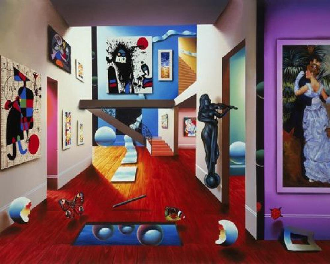 """Ferjo """"Homage to the Masters"""" Surreal Giclée Canvas"""