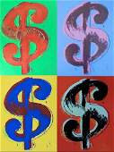 Andy Warhol Dollar Sign screen print Portfolio By