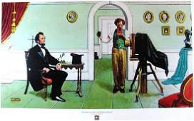 Norman Rockwell Abraham Lincoln and Matthew brady