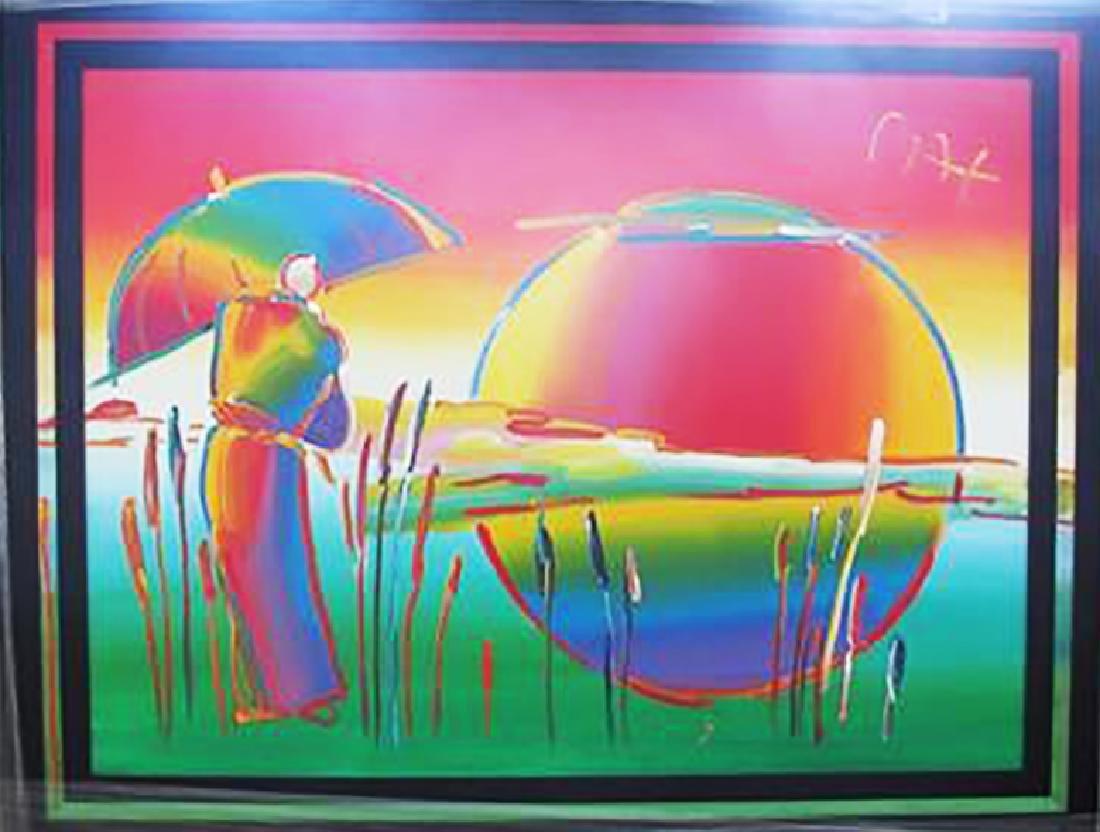Peter Max Original Acrylic Canvas Umbrella Man 36 X 48 - 2