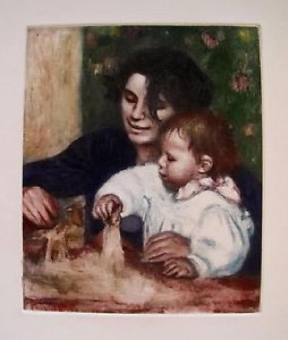 Pierre-Auguste Renoir Etching GABRIELLE ET JEAN