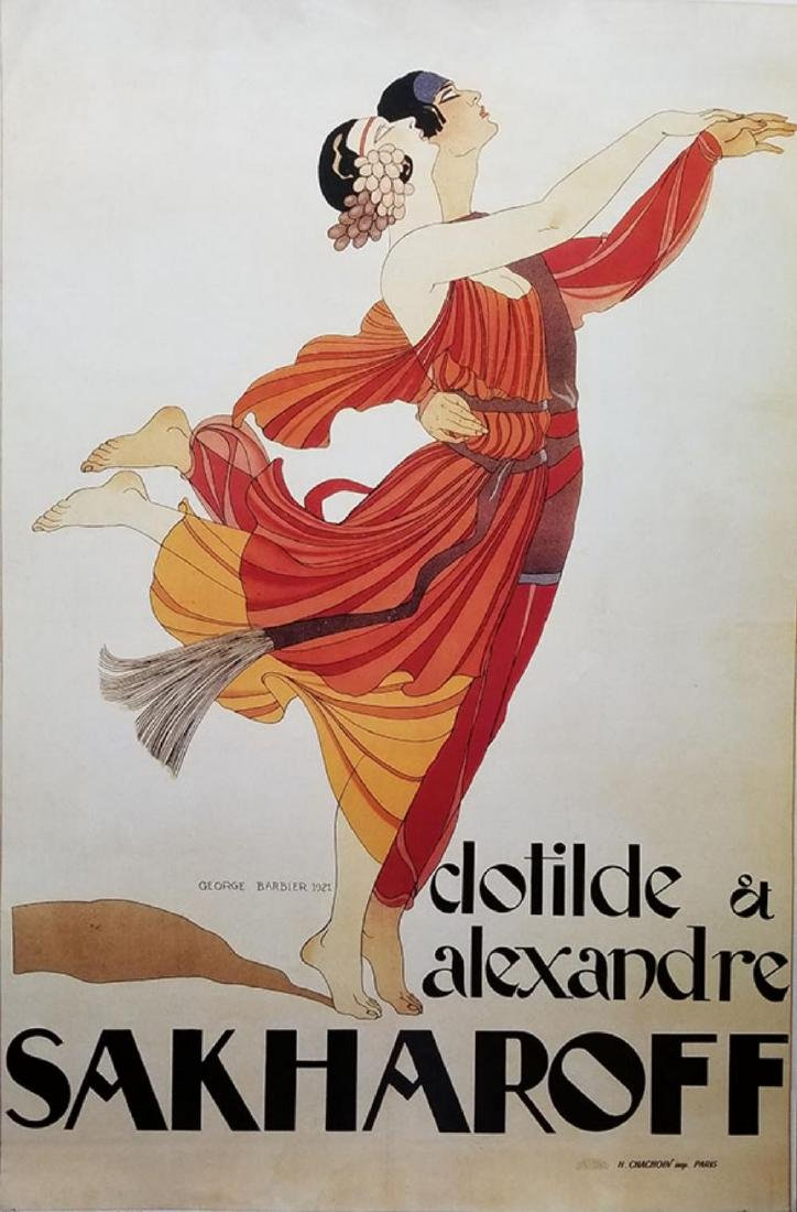 Clotilde And Alexandre Sakharoff poster by George