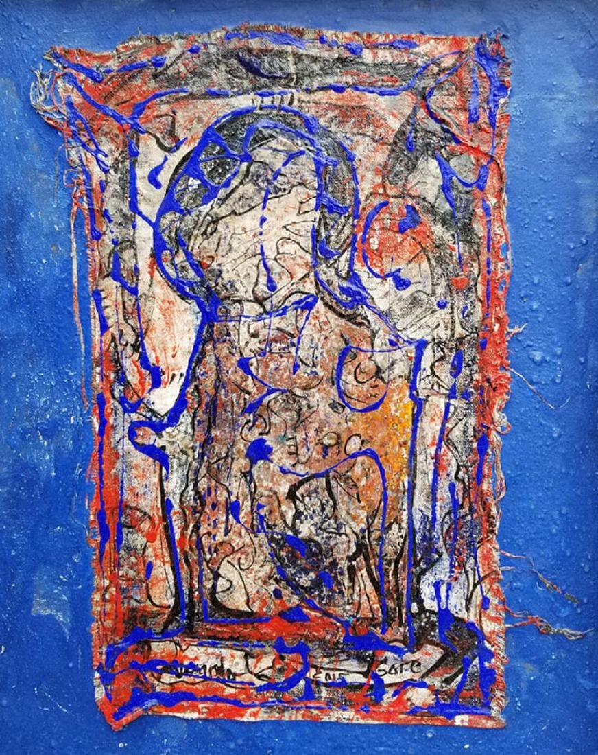 """Alexander Gore (Russian) signed mixed media """"Thrue the - 2"""