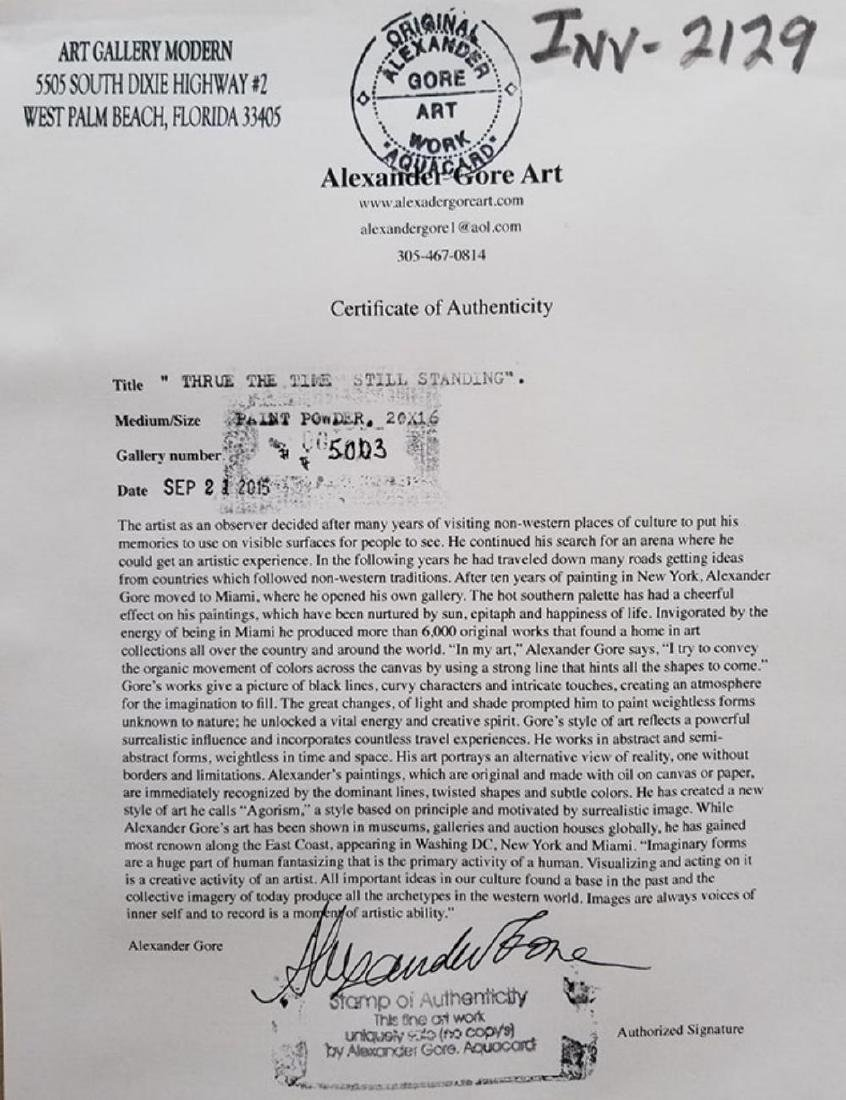"""Alexander Gore (Russian) signed mixed media """"Thrue the - 4"""
