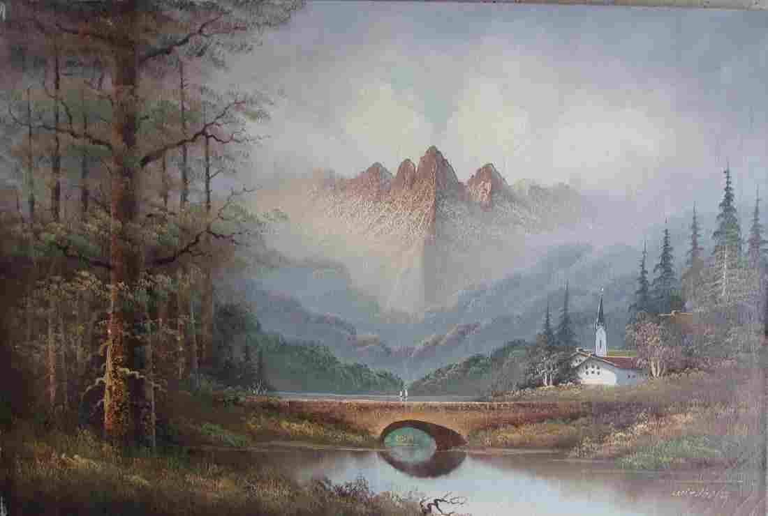 """Dalhart WINDBERG (1933), Oil on canvas. 30"""" x 40"""" C1968"""