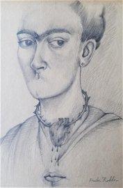 "Frida KAHLO (1907-1954), ""Self-portrait"",1945,"