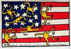 """Keith Haring. Signed """"New York City Ballet American"""