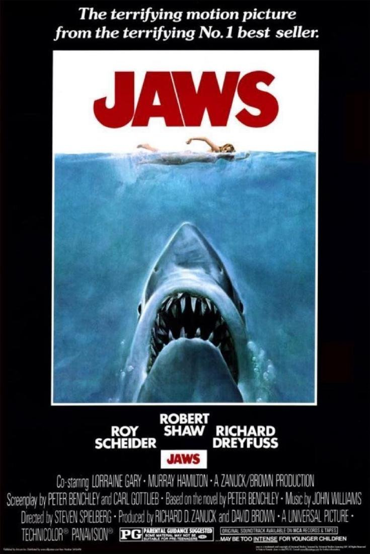 JAWS - MOVIE POSTER - 24x36