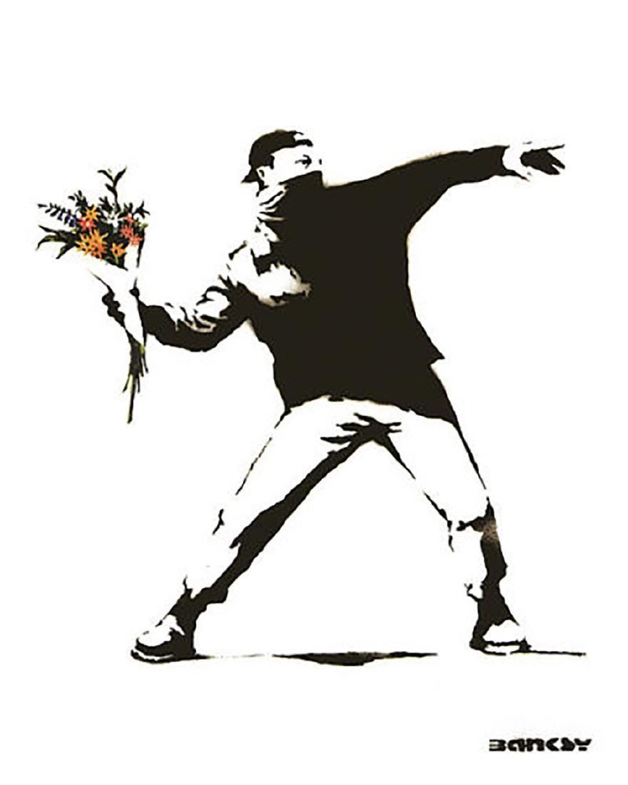 Molotov Flowers by Banksy Urban Street Graffitioffset