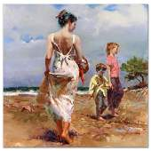 Pino Mediterranean Breeze Hand Embellished Gicle on