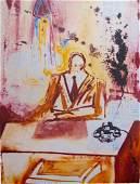 "Salvador Dali ""The Businessman"" 29""x 21"" Facsimile"