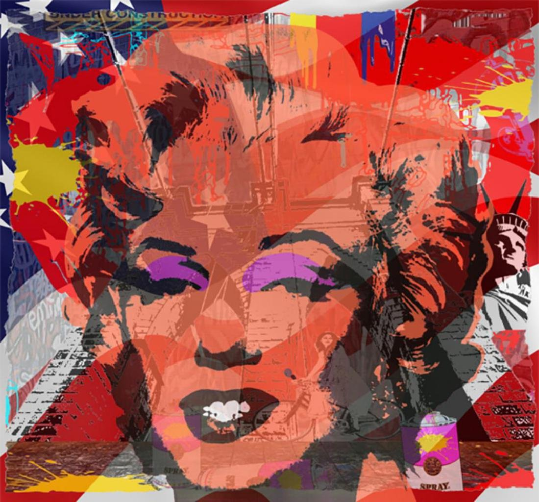 Jozza - Marilyn Broken Glass Brooklyn Bridge