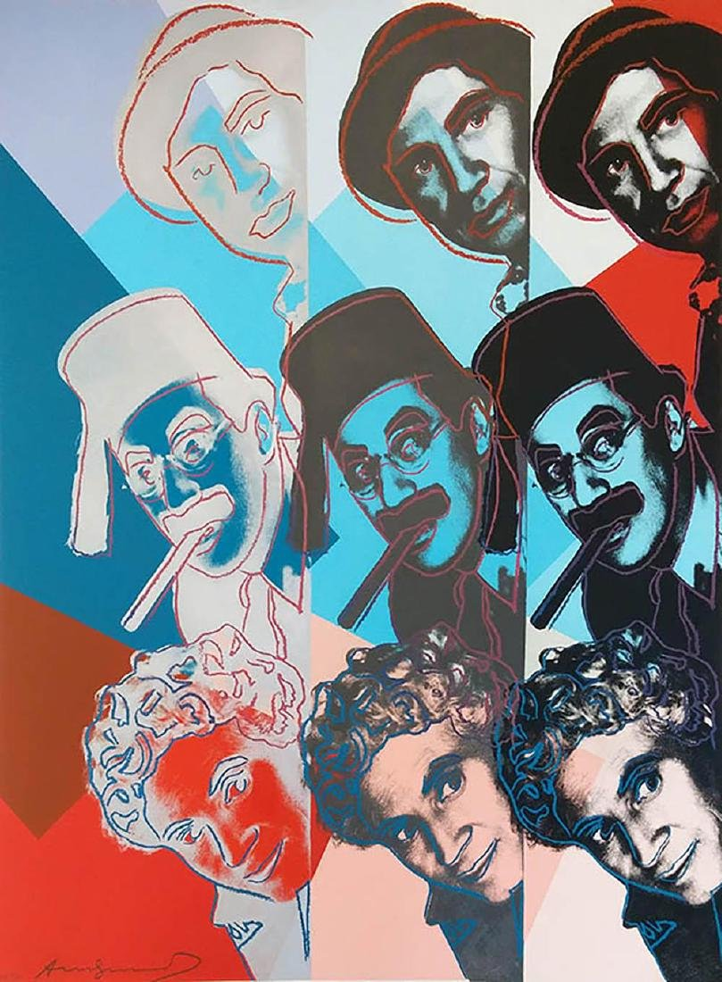 "WARHOL, ANDY ""THE MARX BROTHERS FS II.232"" SCREENPRINT"