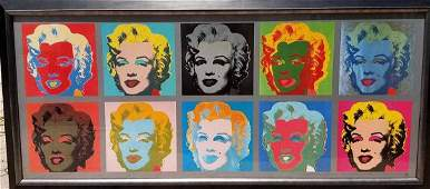 Ten Marilyns 1967 by Andy Warhol offset lithograph