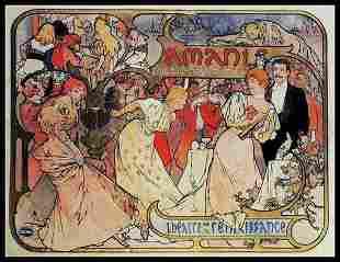 Original Poster - Alphonse Mucha - Les Amants - Bernhar