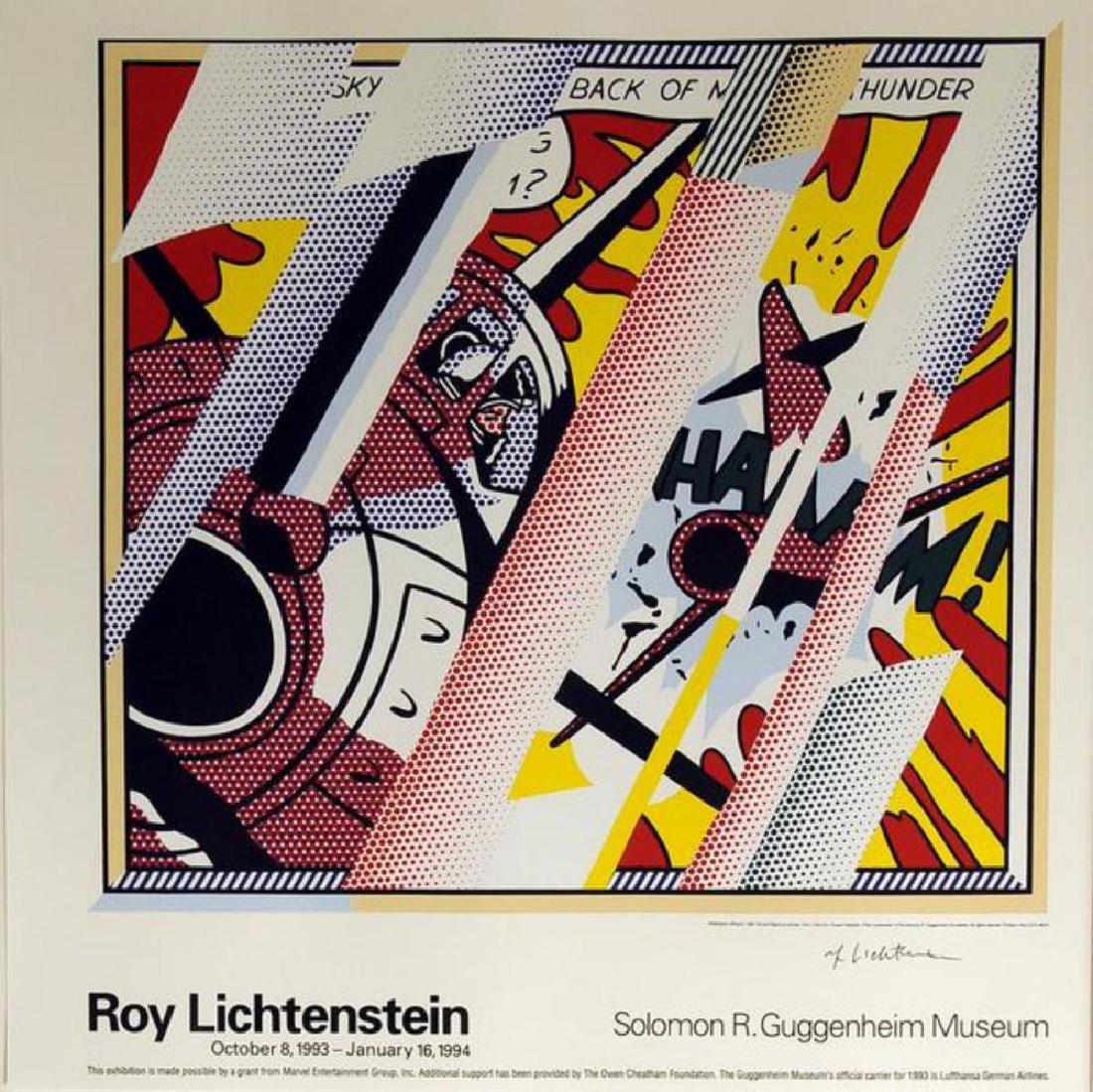 ROY LICHTENSTEIN Reflection of Whaam Hand signed offset