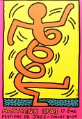 Keith Haring  Montreux Jazz Festival 1983 silkscreen