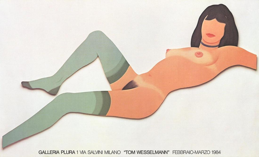 Tom Wesselmann-Galleria Plura-1984 offset lithograph
