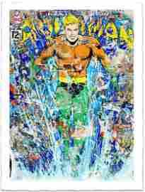 """Aquaman"" By Mr. Brainwash Silkscreen signed numbered"