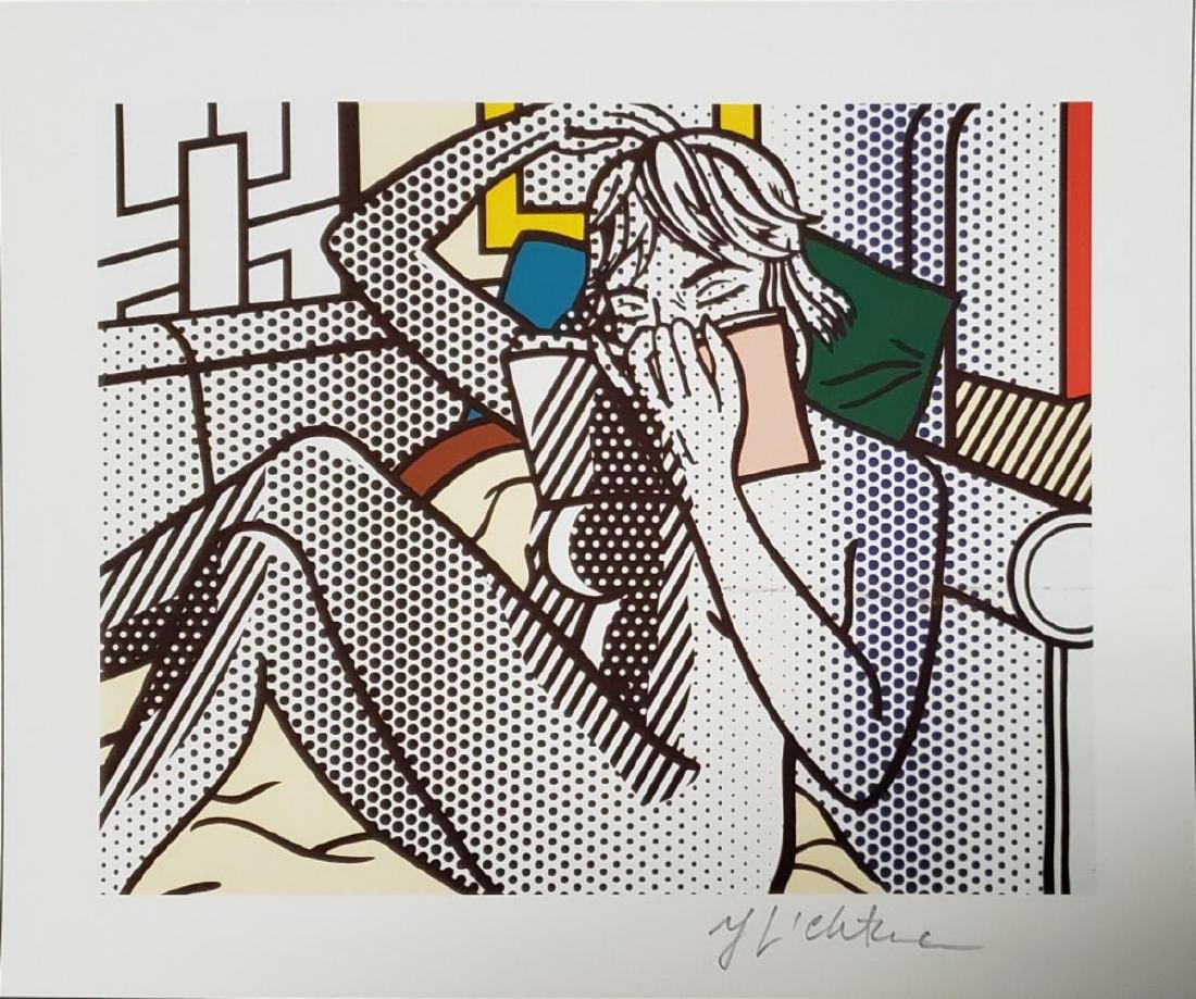 ROY LICHTENSTEIN, HAND SIGNED OFFSET LITHOGRAPH