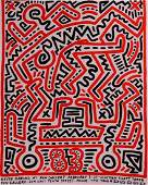 """Keith Haring """"Fun Gallery"""" Poster hand signed"""