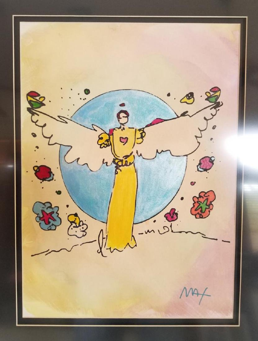 Peter Max, Original Mixed media on Paper Framed