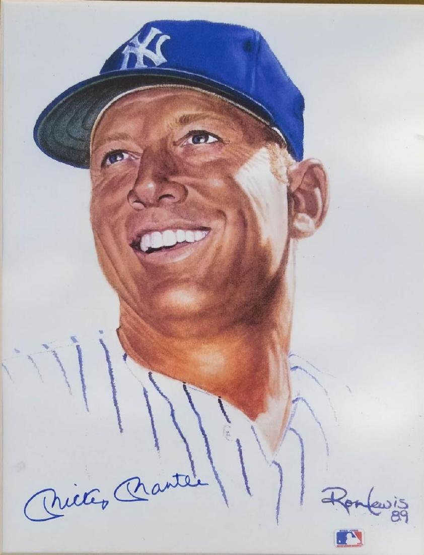 Mickey Mantle 16x11 Autographed Photo