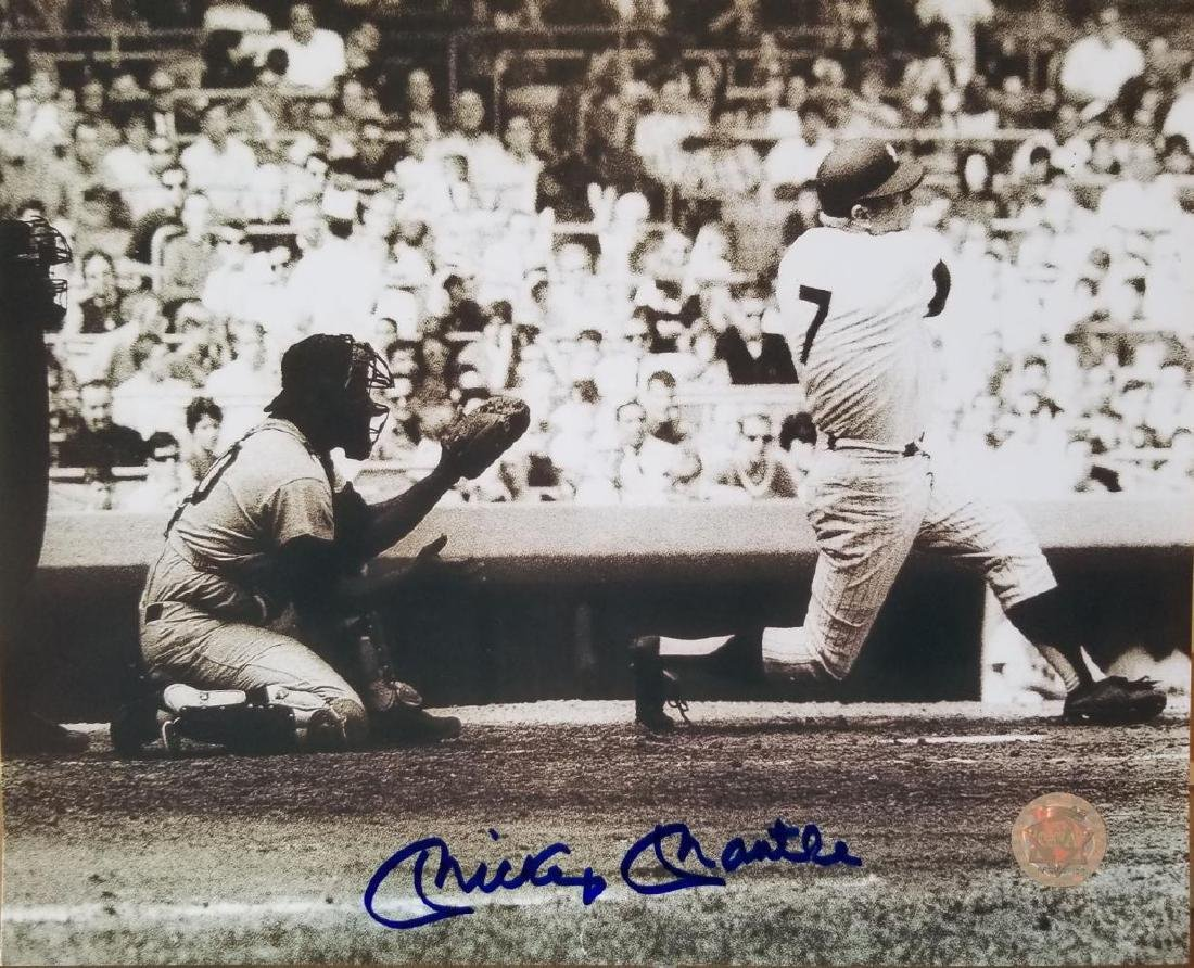 Mickey Mantle Hand signed 8x10 photo GFA certificate
