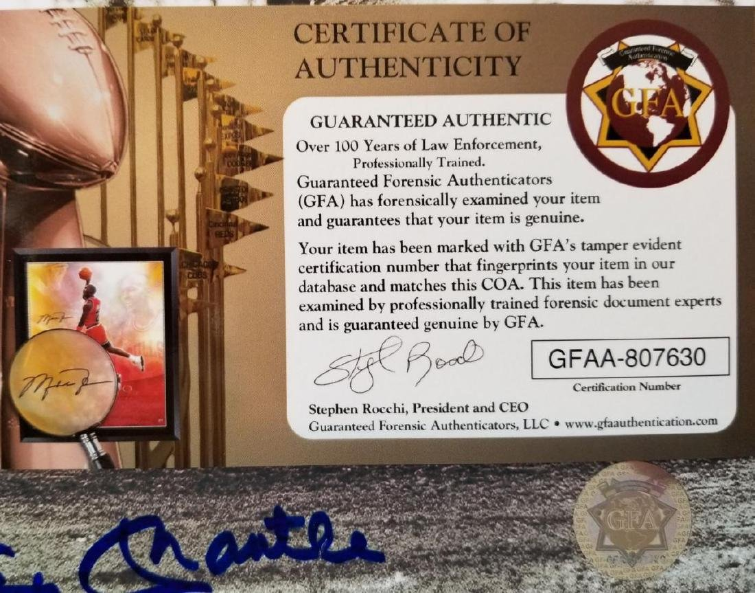 Mickey Mantle Hand signed 8x10 photo GFA certificate - 2