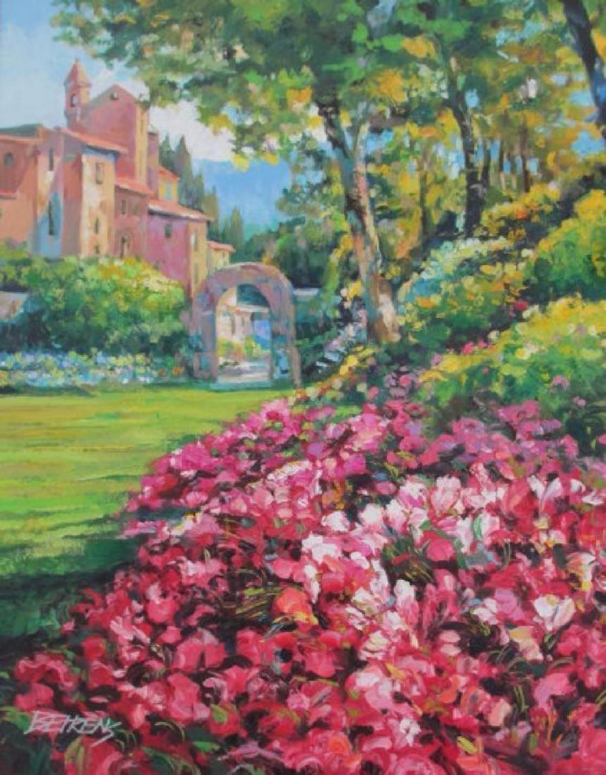 """Howard Behrens """"Villaggio Vicino El Mare"""" oil on canvas"""