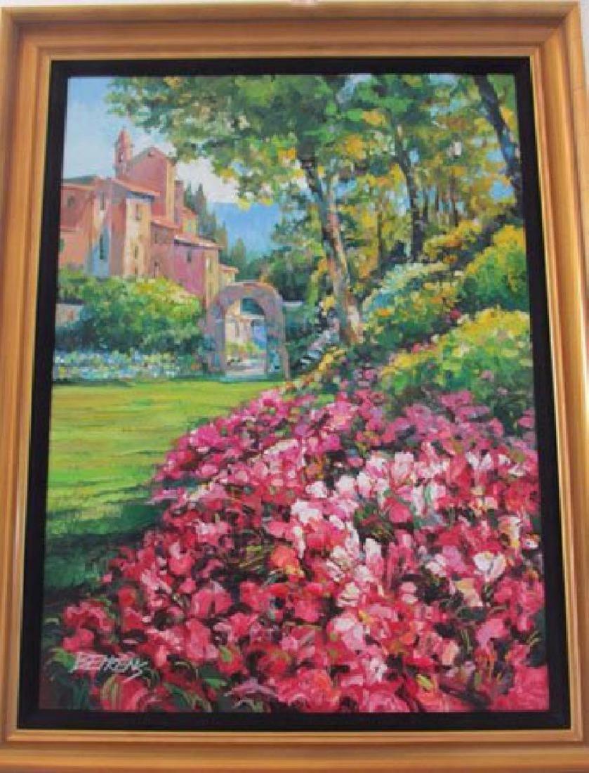 """Howard Behrens """"Villaggio Vicino El Mare"""" oil on canvas - 2"""