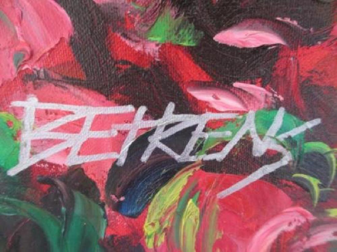 """Howard Behrens """"Villaggio Vicino El Mare"""" oil on canvas - 3"""