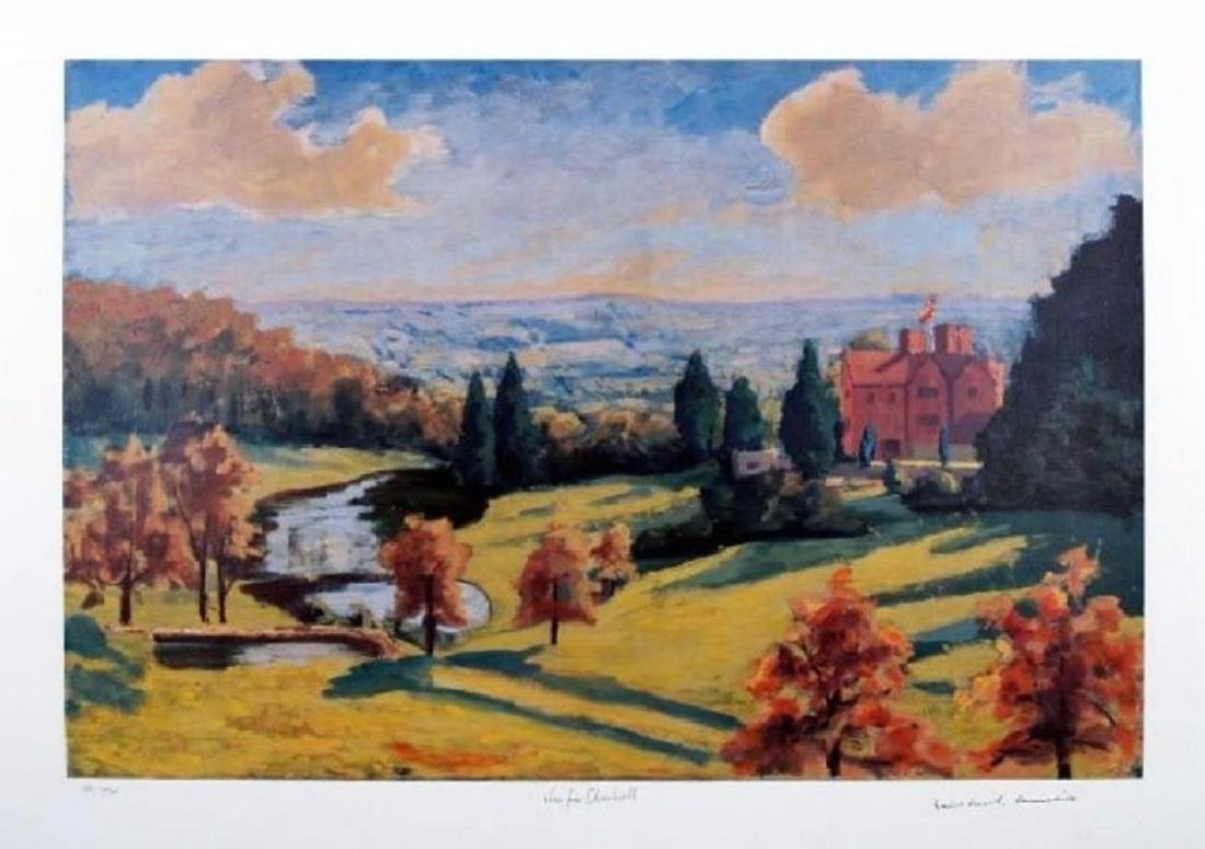 """Sir Winston Churchill """"View From Chartwell"""" signed num."""