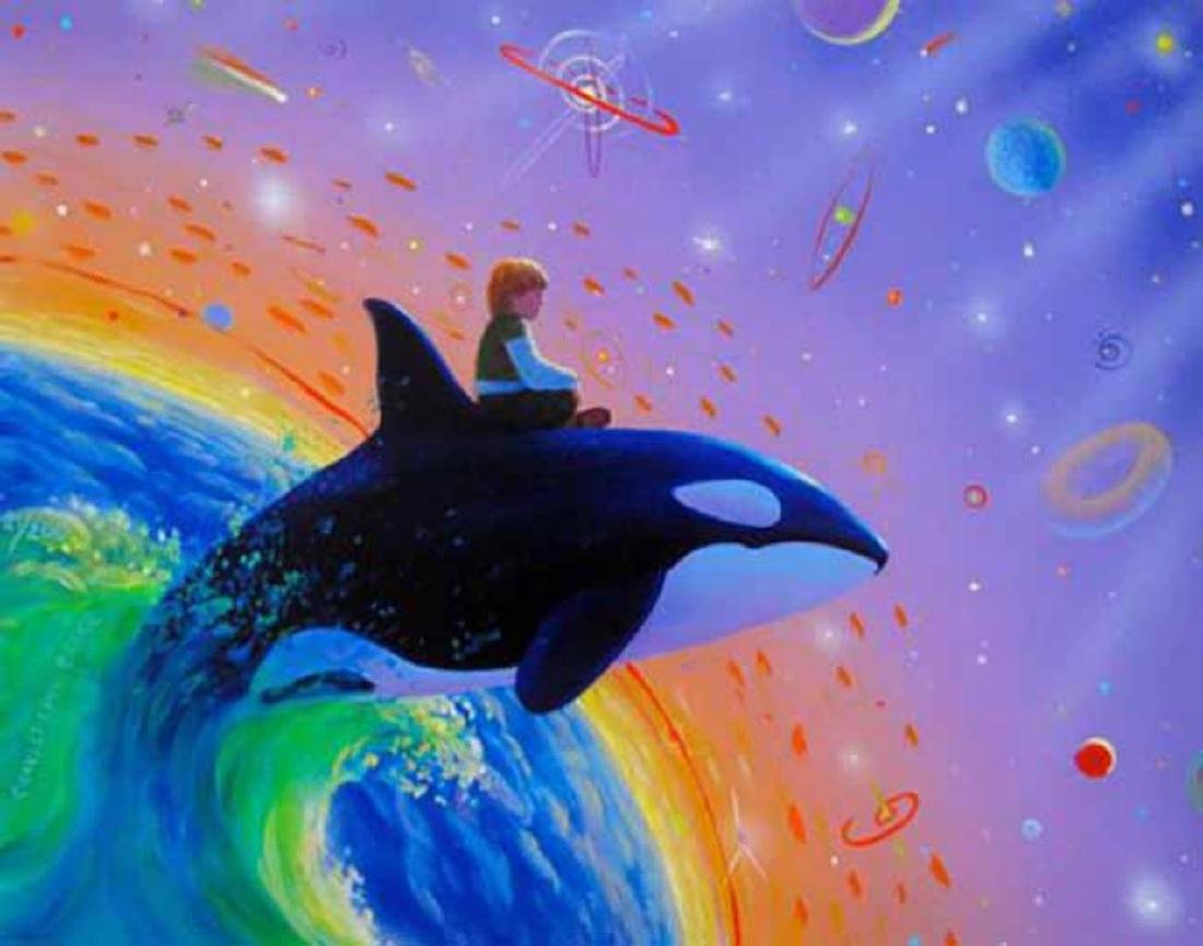 Charles Lynn Bragg ORCA SPACE JUMP Hand Signed Giclée