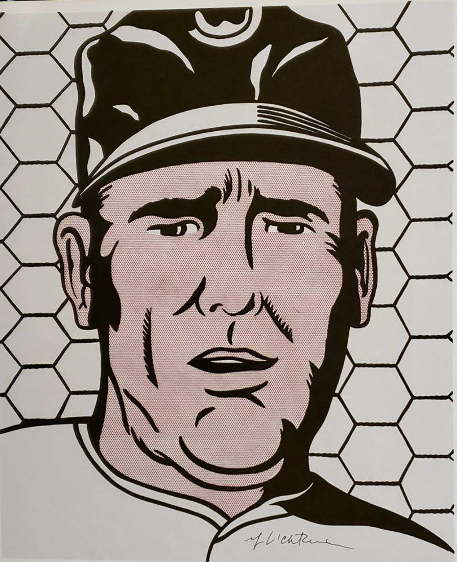 Roy Lichtenstein - Baseball Manager 1963, Hand signed o