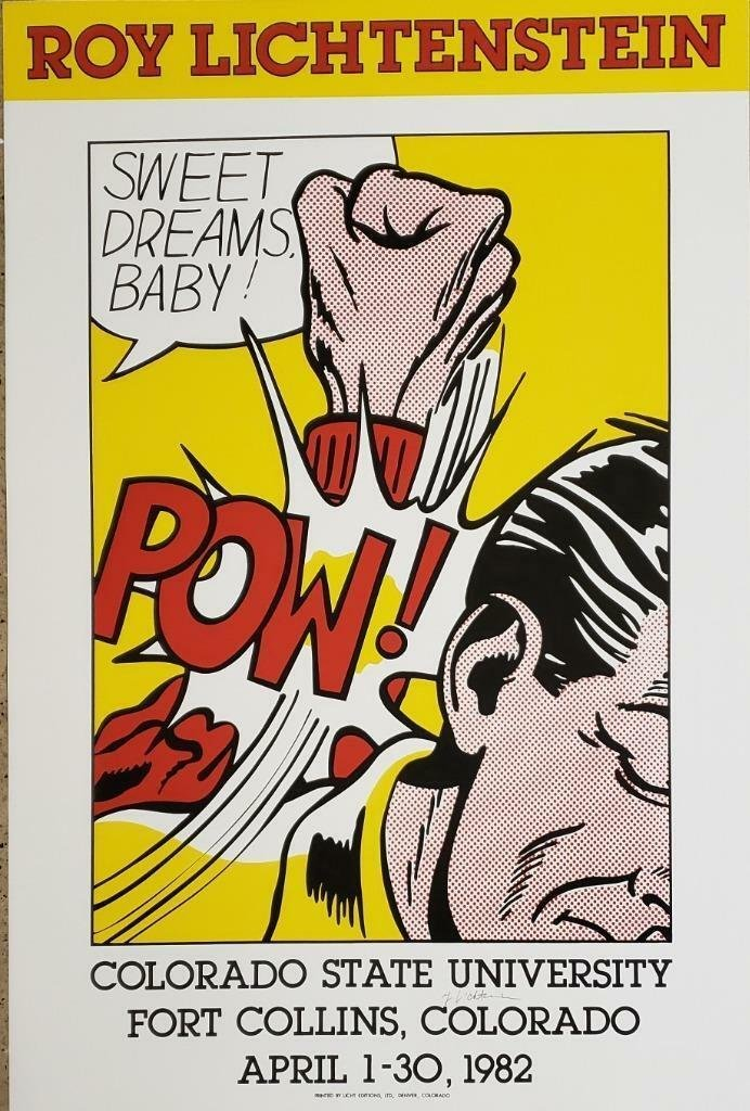 Roy Lichtenstein Sweet Dreams Baby silkscreen hand sign