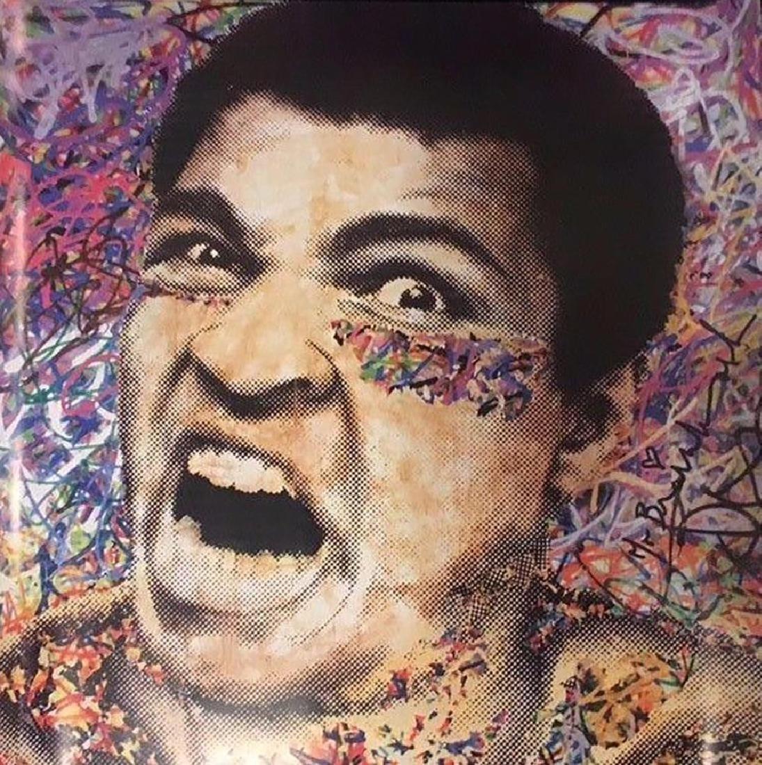 Mr Brainwash Ali The Greatest Offset Lithograph framed