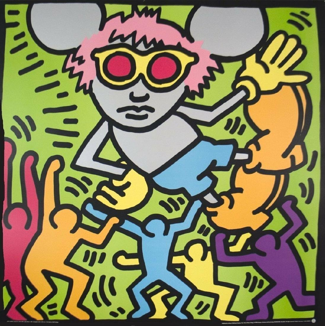 Andy Mouse (Dancing) by Keith Haring Serigraph Art - 2
