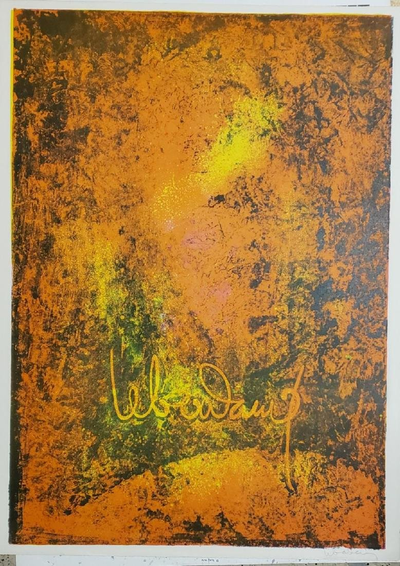 Lebadang Nature Prays Without Words 5, 1967 Lithograph