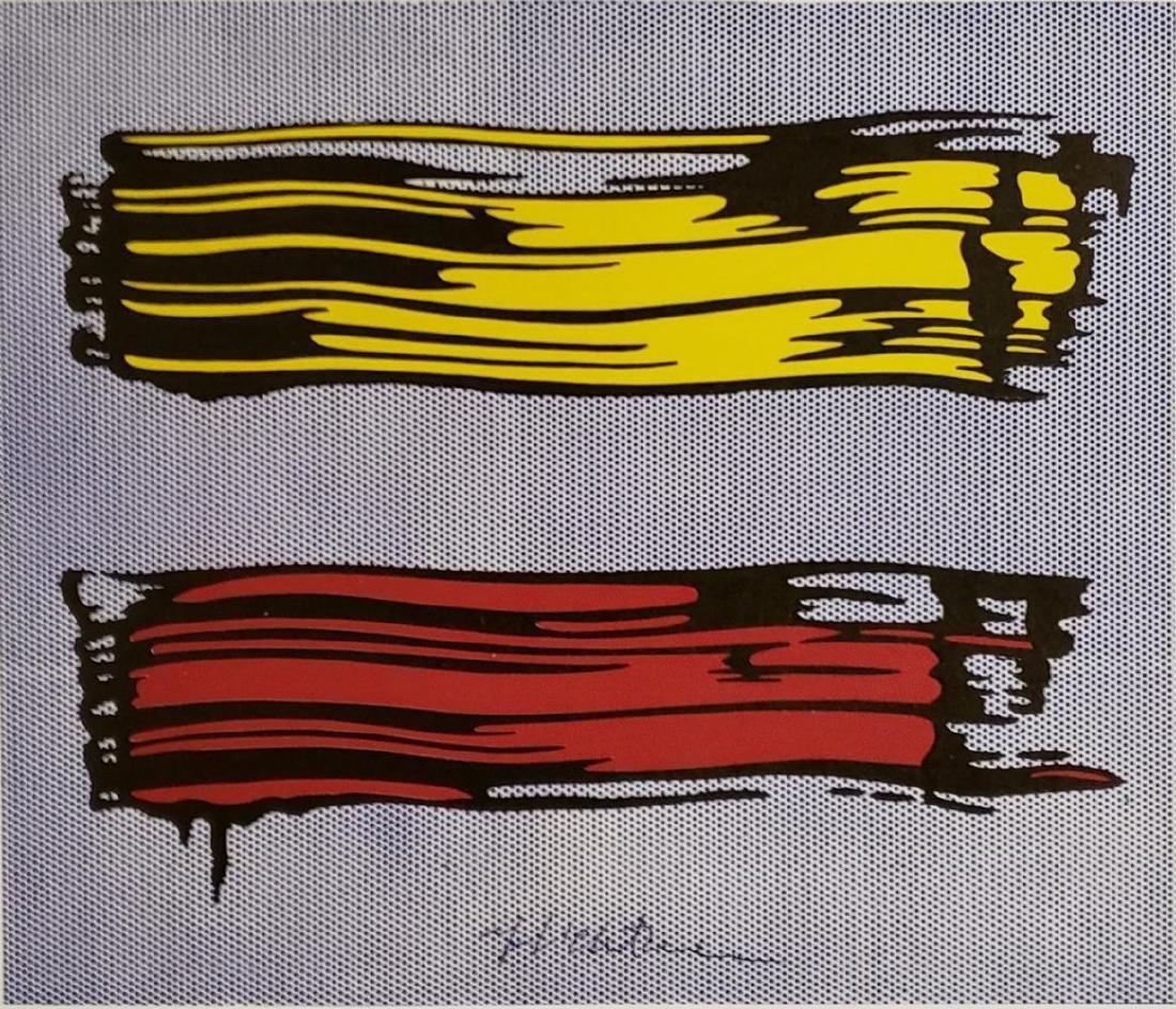 Roy Lichtenstein - Yellow & Red 1966, Hand signed