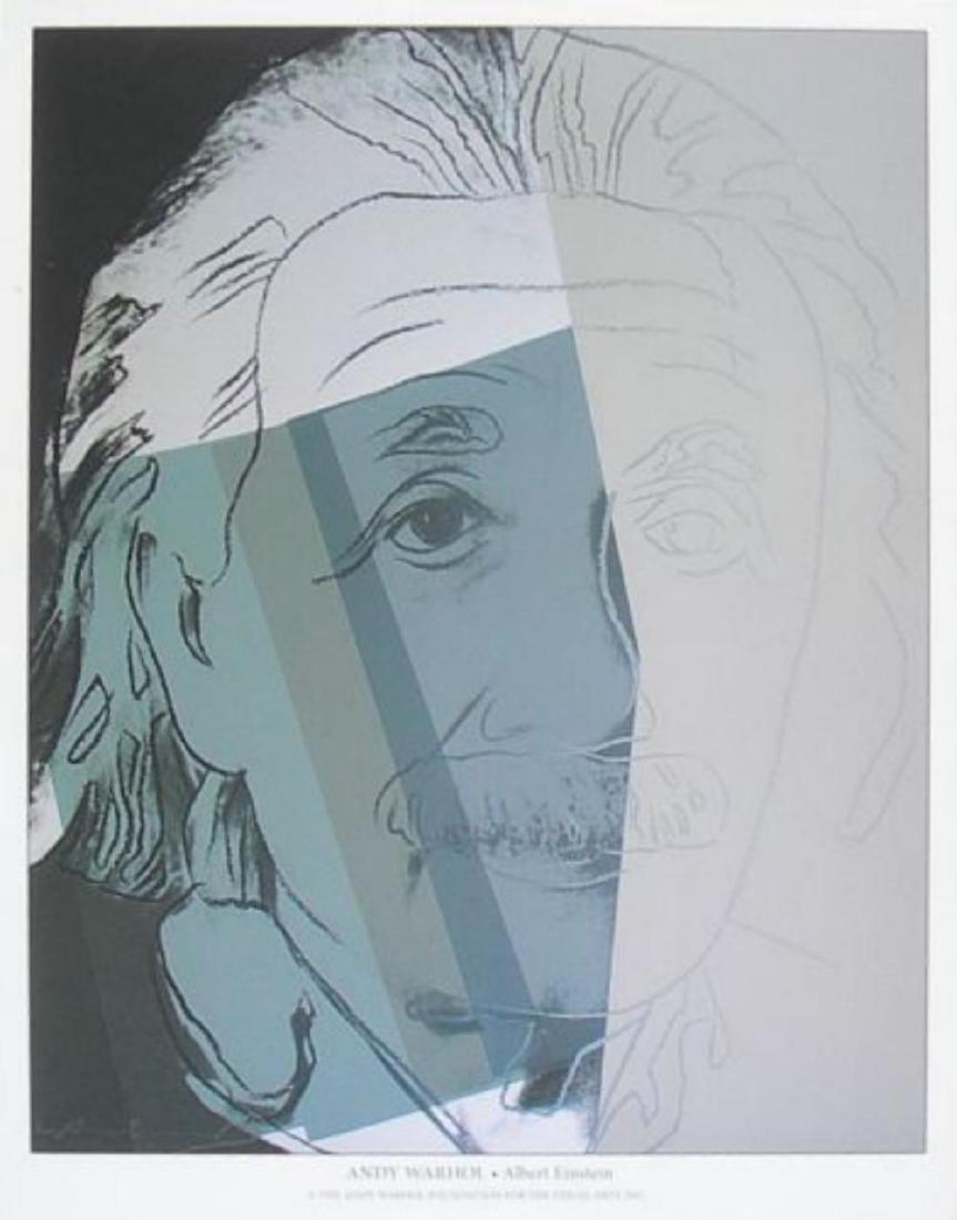 Albert Einstein by Andy Warhol offset lithograph very