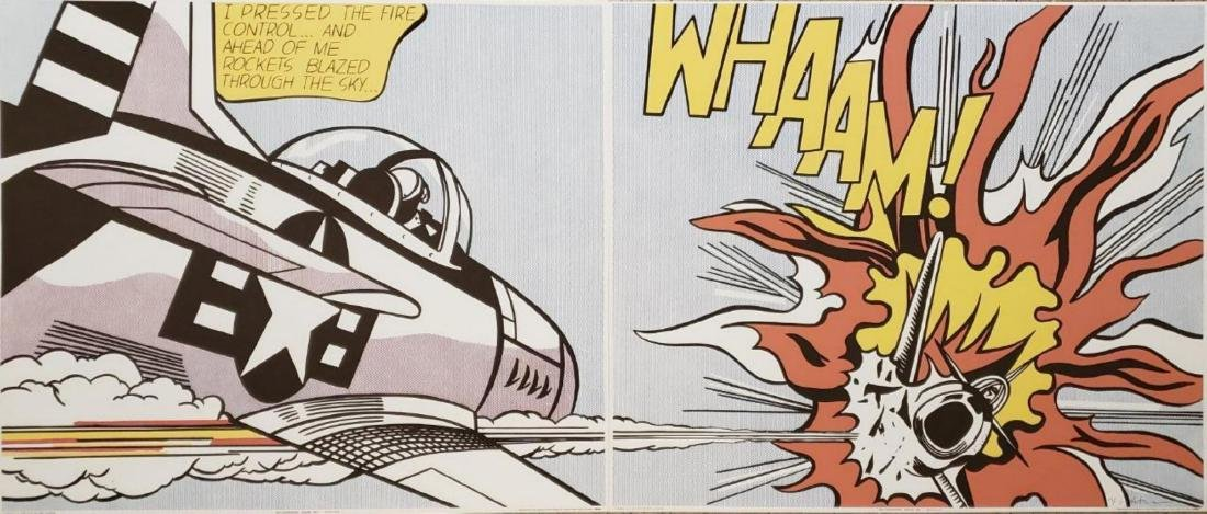 Roy Lichtenstein - Whaam - Silkscreen suite of two Hand