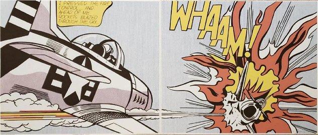 Roy Lichtenstein - Whaam - Silkscreen suite of two Hand
