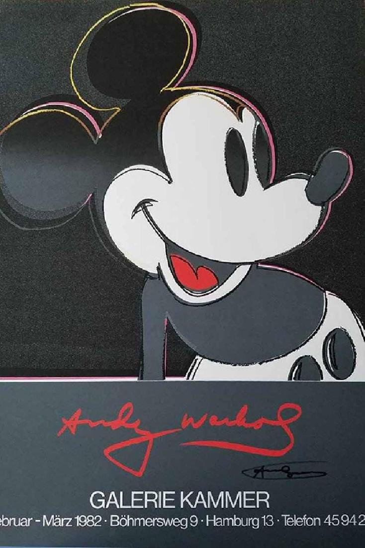 Andy Warhol, Mickey Mouse, offset lithograph, 1982 hand